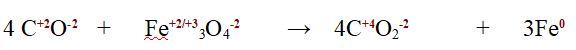 reazione bilanciata con numeri di ossidazione