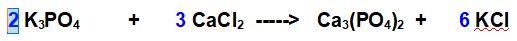 bilanciamento del potassio e del gruppo fosfato