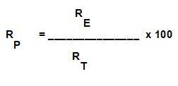 formula della resa teorica, effettiva e percentuale