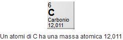 massa atomica del carbonio
