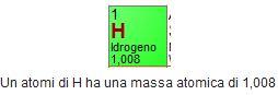 massa atomica dell'idrogeno