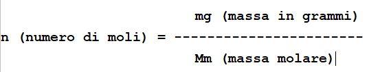 formula della mole