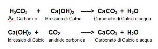 formazione del carbonato di calcio
